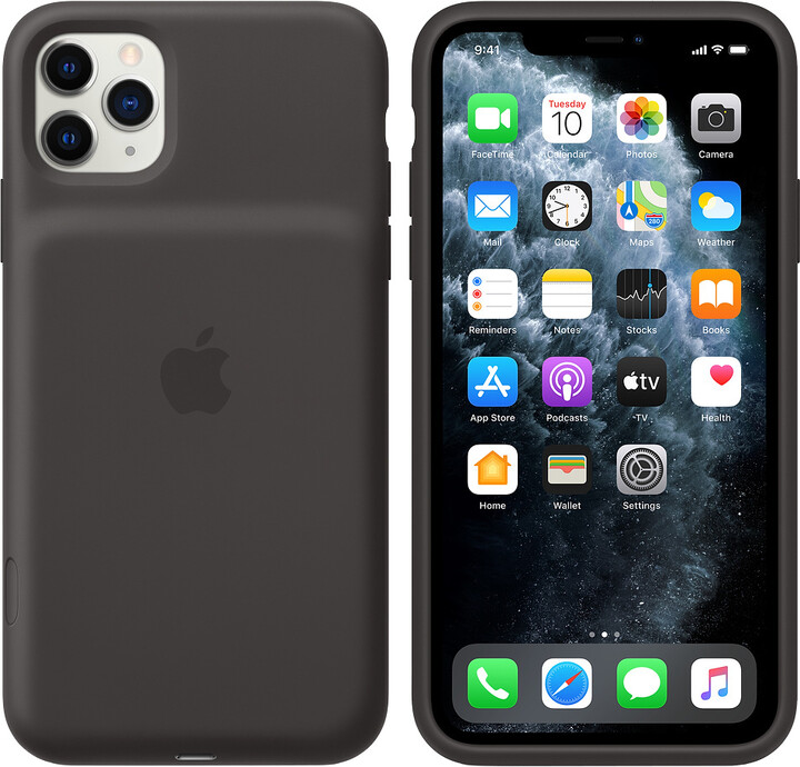 Apple iPhone 11 Pro Max Smart Battery Case with Wireless Charging, black