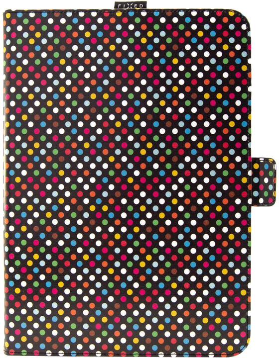 "FIXED pouzdro Novel se stojánkem pro tablety 10.1"", motiv Rainbow Dots"