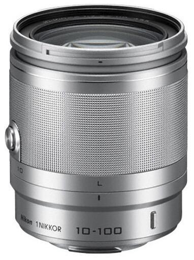 Nikon objektiv Nikkor 10-100 mm F4-5.6 VR 1, stříbrná