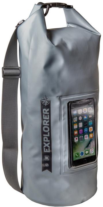 """CELLY voděodolný vak Explorer 10L s kapsou na telefon do 6,2"""", šedý"""