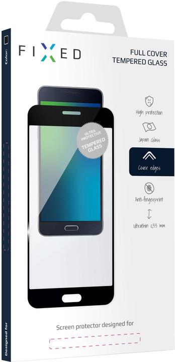 FIXED ochranné tvrzené sklo Full-Cover pro Samsung Galaxy A40, lepení přes celý displej, černá