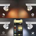 Philips svítidlo Hue Argenta GU10, 3x 5.7W, Bluetooth, bílá