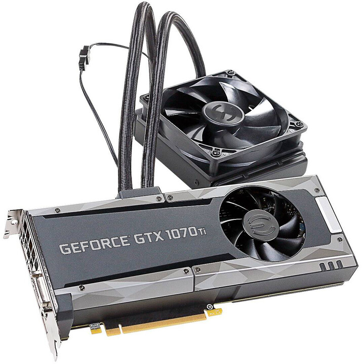 EVGA GeForce GTX 1070 Ti SC Hybrid Gaming, 8GB GDDR5