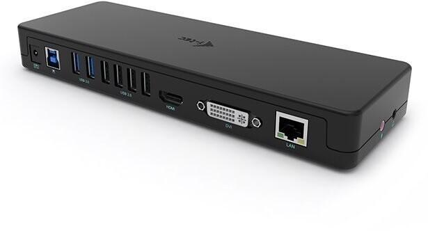 I-tec dokovací stanice USB 3.0/ USB-C Dual Display, HDMI, DVI, VGA, černá
