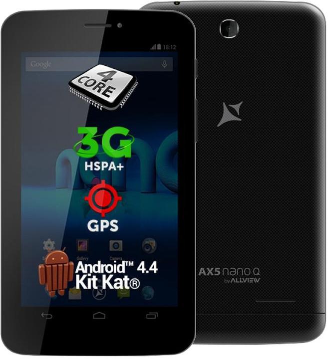 """Allview AX5 NANO Q 3G 7"""" - 4GB, 3G, černá"""