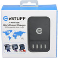 eSTUFF cestovní adaptér 4 USB