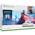 XBOX ONE S, 1TB, bílá + Battlefield V Deluxe + Battlefield 1 Revolution