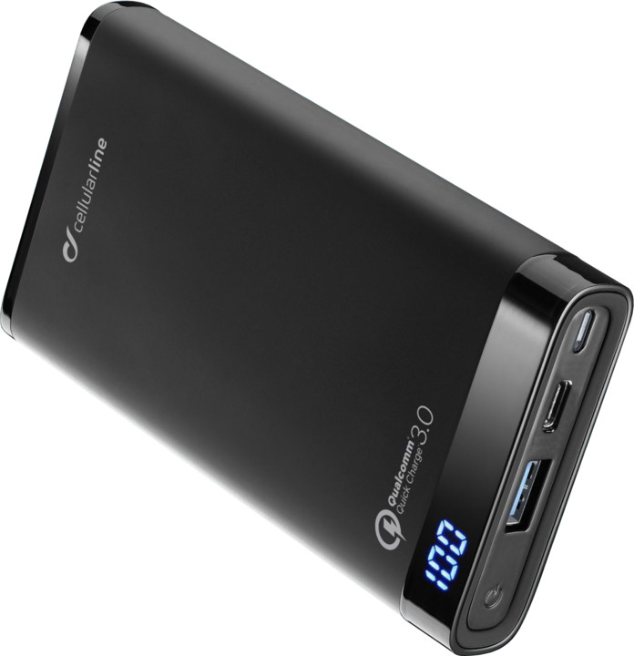 CellularLine FREEPOWER MANTA, 12000mAh, černá