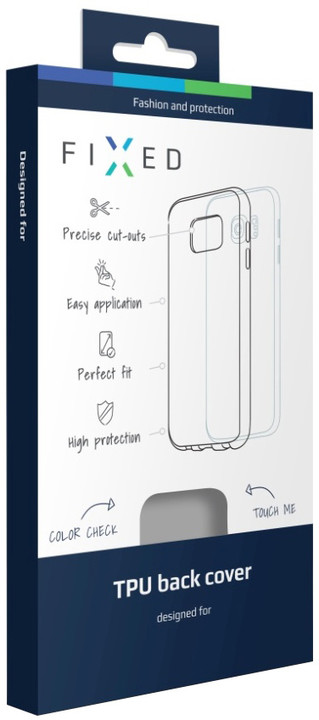 FIXED TPU gelové pouzdro pro Samsung Galaxy S7 Edge, bezbarvá