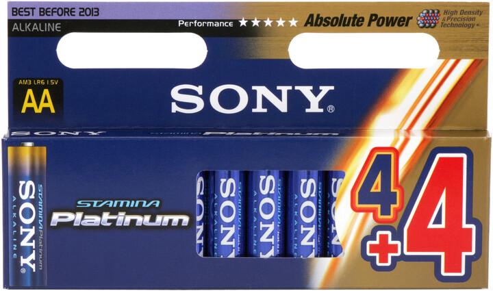 "Sony Alkalická baterie ""STAMINA PLATINUM"" - LR6 AA 4x4ks"