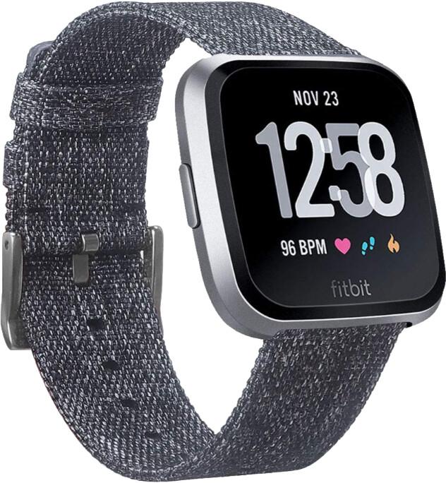 Fitbit Versa Lite - Charcoal/Silver Aluminum