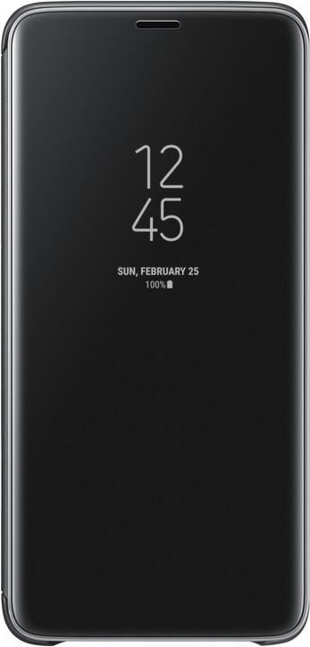 Samsung flipové pouzdro Clear View se stojánkem pro Samsung Galaxy S9+, černé