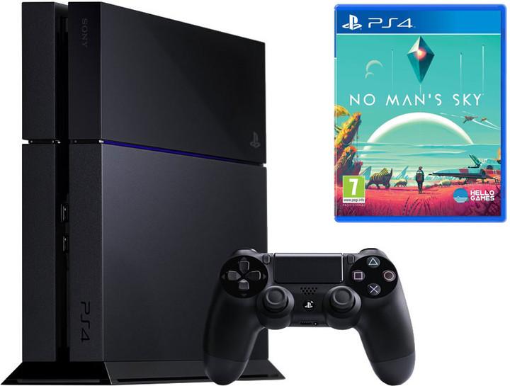 PlayStation 4, 1TB, černá + No Man's Sky