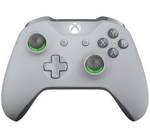 Xbox ONE S Bezdrátový ovladač, šedý/zelený (PC, Xbox ONE) - WL3-00061