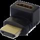 PremiumCord Adapter HDMI M/F zahnutý do pravého úhlu - opačný