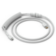 Glorious Coiled Cable, USB-C/USB-A, 1,37m, Ghost White