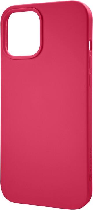 """Tactical silikonový kryt Velvet Smoothie pro iPhone 12 Pro Max (6.7""""), červená"""