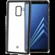 CELLY Laser TPU pouzdro - lemování s matným kovovým efektem pro Samsung Galaxy A8 Plus (2018), černé