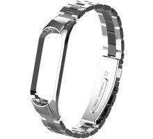 MAX náhradní řemínek pro Mi Band 3/4, stříbrno/černá