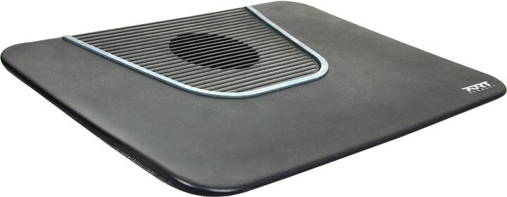 Port Designs CONNECT chladící podložka pod notebook, černá