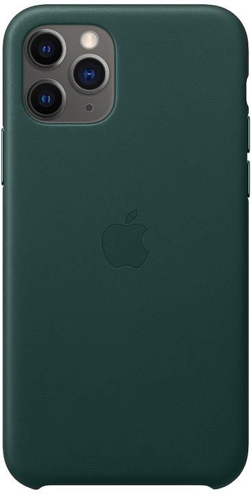Apple kožený kryt na iPhone 11 Pro, piniově zelená