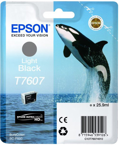 Epson T7607, (25,9ml), light black
