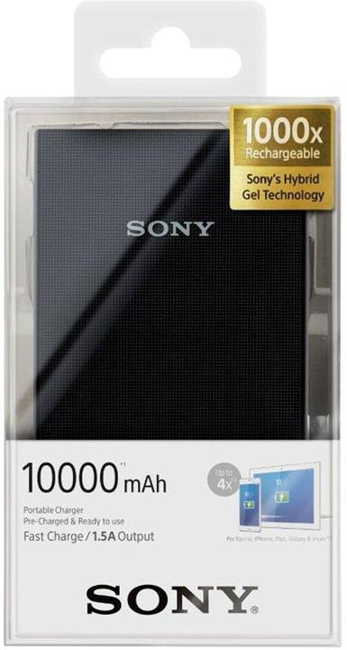 Sony CP-V10AB přenosný zdroj USB, 10000mAh, černá