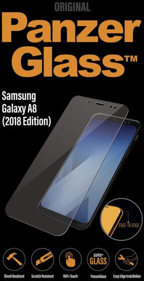 PanzerGlass Edge-to-Edge pro Samsung Galaxy A8 (2018), čiré