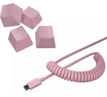 Razer PBT Keycap + Coiled Cable Upgrade Set, Quartz Pink