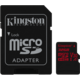 Kingston Micro SDHC Canvas react 32GB 100MB/s UHS-I + SD adaptér