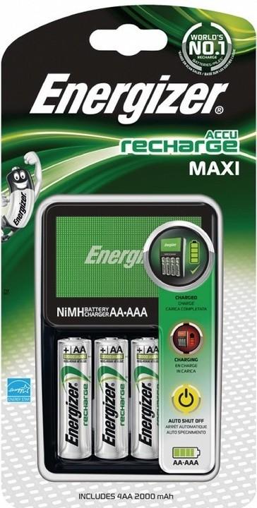 Energizer Maxi nabíječka + 4AA Power Plus 2000 mAh