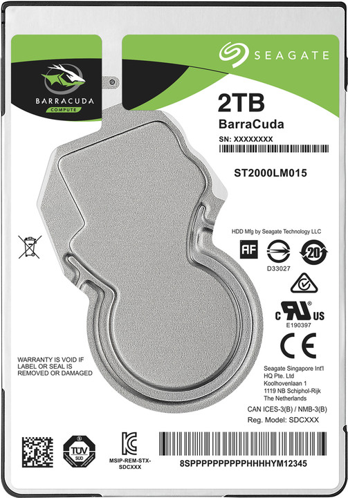 "Seagate BarraCuda, 2,5"" - 2TB"