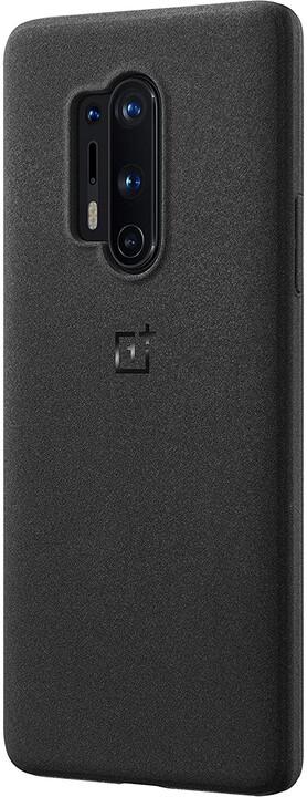 OnePlus ochranný kryt Sandstone pro OnePlus 8 Pro, černá