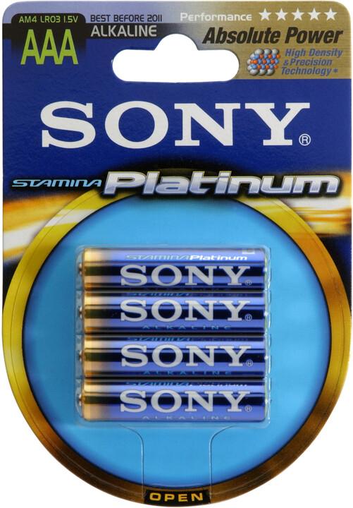 "Sony Alkalická baterie ""STAMINA PLATINUM"" - LR03/AAA 1,5V - 4 ks v balení Eco Pack"