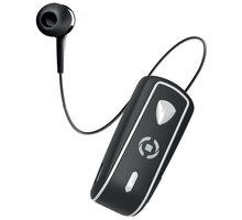 CELLY SNAIL, bluetooth headset s klipem a navijákem kabelu, černá - BHSNAILBK