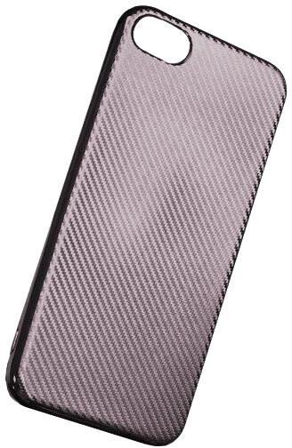 Forever silikonové (TPU) pouzdro pro Apple iPhone 6/6S, carbon/střírbná