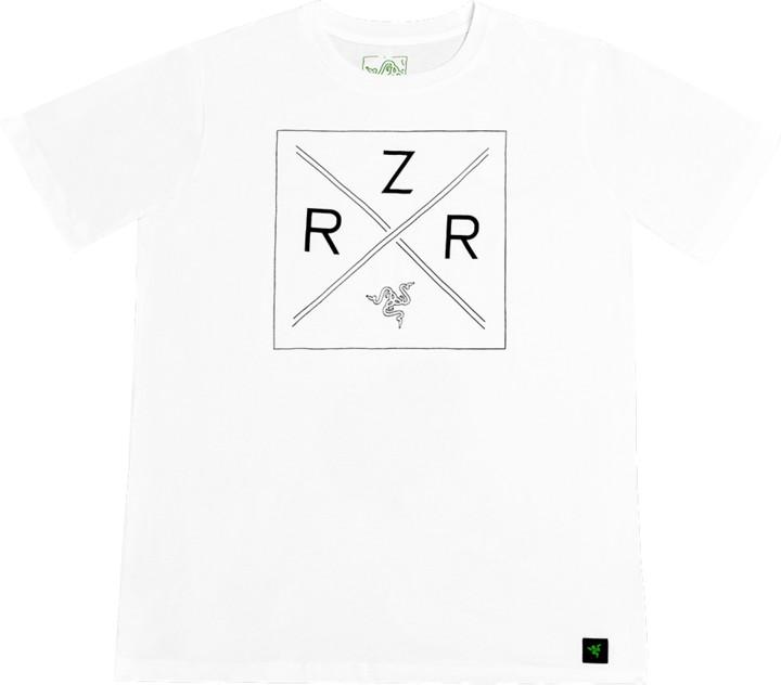 Tričko Razer Lifestyle Chroma Shield, bílé (XL)