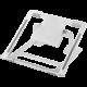 Desire2 skládací univerzální podstavec pro notebooky, nastavitelný sklon, stříbrná