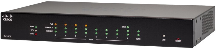 Cisco RV260 VPN Router, PoE