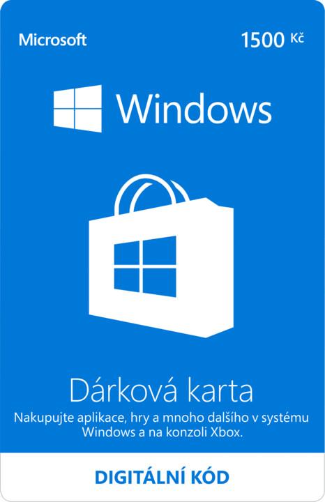 Microsoft Windows Store Gift Card 1500CZK - elektronicky