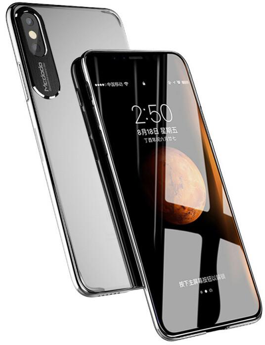 Mcdodo iPhone X Sharp Aluminum Alloy Case (Aluminum Alloy + PC), Clear Black