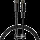 BASEUS kabel Tungsten Gold, USB-C - Lightning, M/M, rychlonabíjecí, datový, 20W, 1m, černá