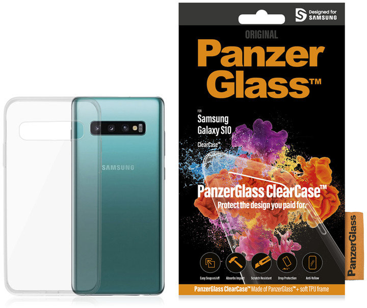 PanzerGlass ClearCase skleněný kryt pro Samsung G973 Galaxy S10, čirá