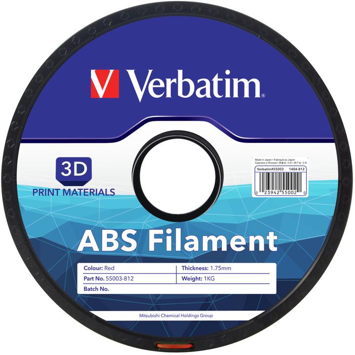Verbatim tisková struna ABS, červená, 1,75mm, 1kg