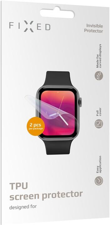 FIXED ochranná fólie pro Apple Watch 44mm/Watch 42mm, 2ks v balení, čirá