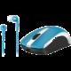 Genius set  MH-8100, modrá