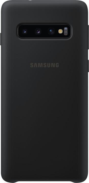 Samsung silikonový zadní kryt pro Samsung G973 Galaxy S10, černá