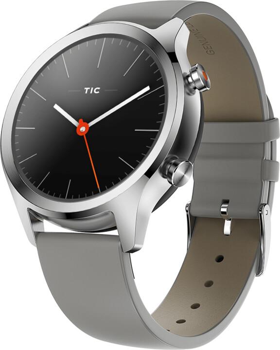 TicWatch C2 Platinum, stříbrná