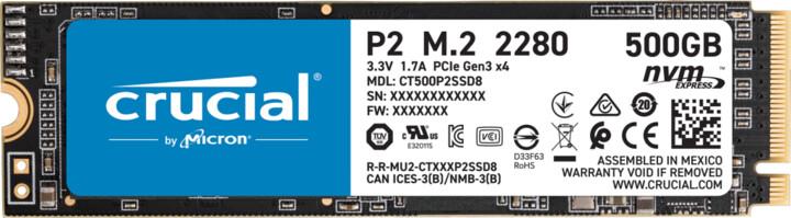 Crucial P2, M.2 - 500GB