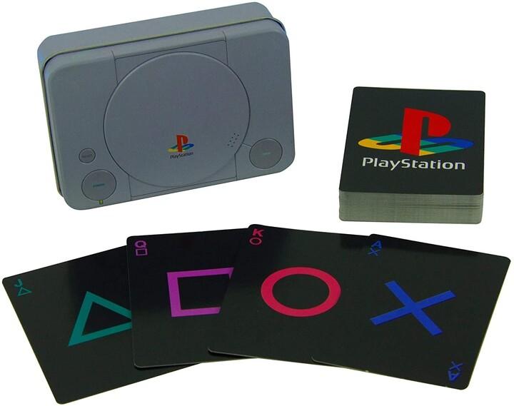 Hrací v plechové krabičce Playstation - All Crest